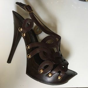 Jessica Simpson platform high heel sandals size 5